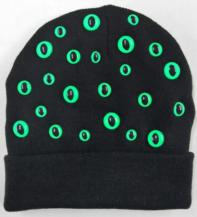 Kitty eye hat black green