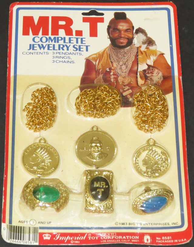 Mr T complete jewelry set vintage