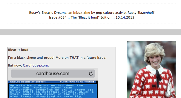 The 'Bleat it loud' edition of Rusty's Electric Dreams is LIVE!