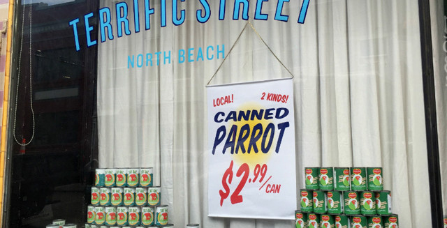 'Canned parrot' ruffling feathers in San Francisco neighborhood